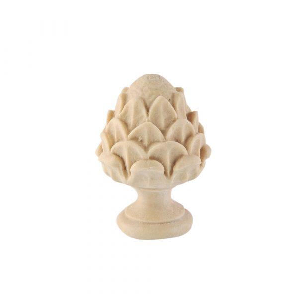 228/D Carved DecWOOD Artichoke Finial   Decora Mouldings