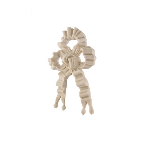 229/D Regency Ribbon & Bow DecWOOD Carved Applique | Decora Mouldings