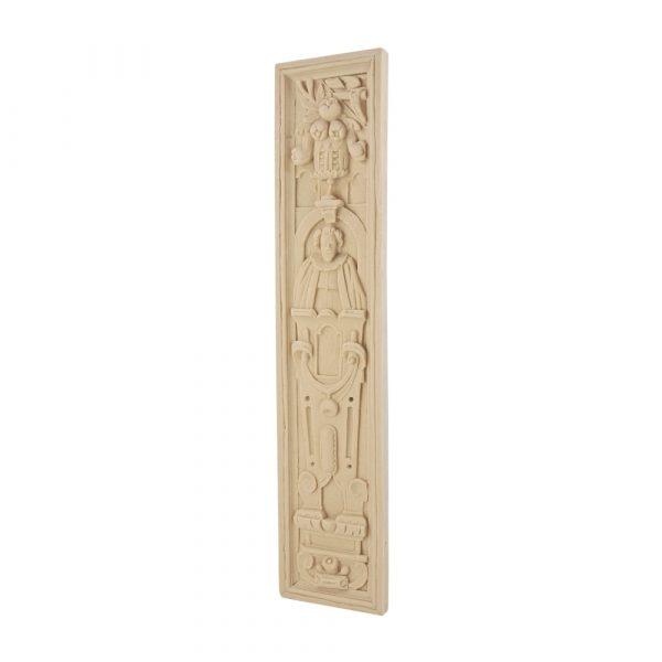 231/D Elizabethan Carved Male Plaque DecWOOD | Decora Mouldings