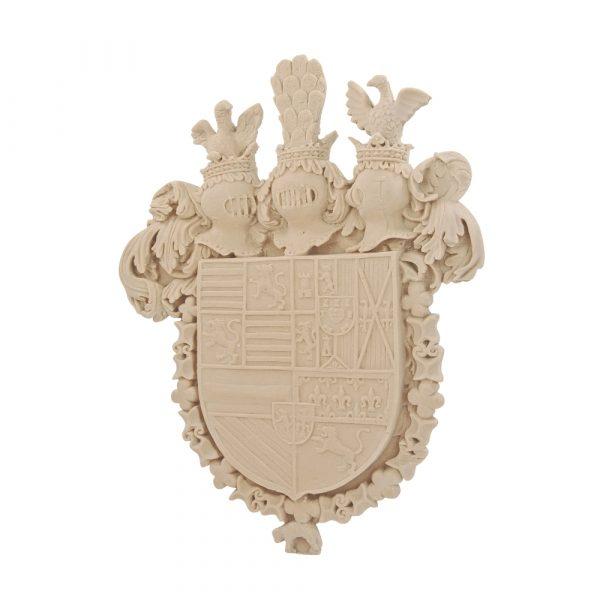 241/D Carved Crest/Shield DecWOOD | Decora Mouldings