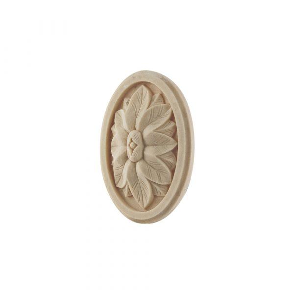 253/D Framed Oval Flower Patrae DecWOOD Rosette   Decora Mouldings