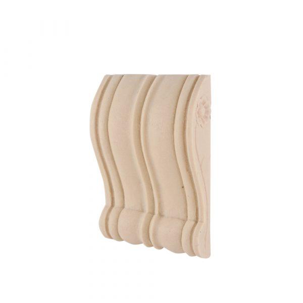 284/D Slim Reeded Ribbed Corbel DecWOOD Shelf Bracket   Decora Mouldings