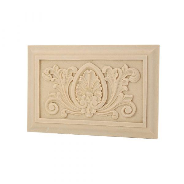 291/D Carved Panel DecWOOD Plaque Applique | Decora Mouldings