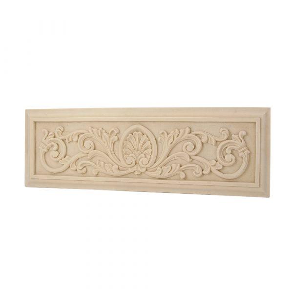 292/D Large Rectangular Carved Panel DecWOOD Acanthus Scroll Applique Plaque | Decora Mouldings