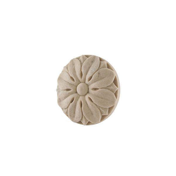 294/D Round Flower Patrae 99mm DecWOOD Carved Rosette | Decora Mouldings