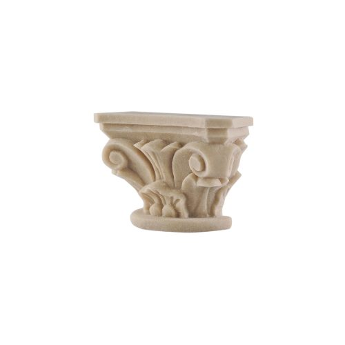 295/D Small Carved Ionic Capital Scroll DecWOOD | Decora Mouldings