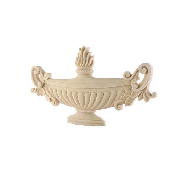 299/D Large Carved Urn Centre DecWOOD Applique   Decora Mouldings