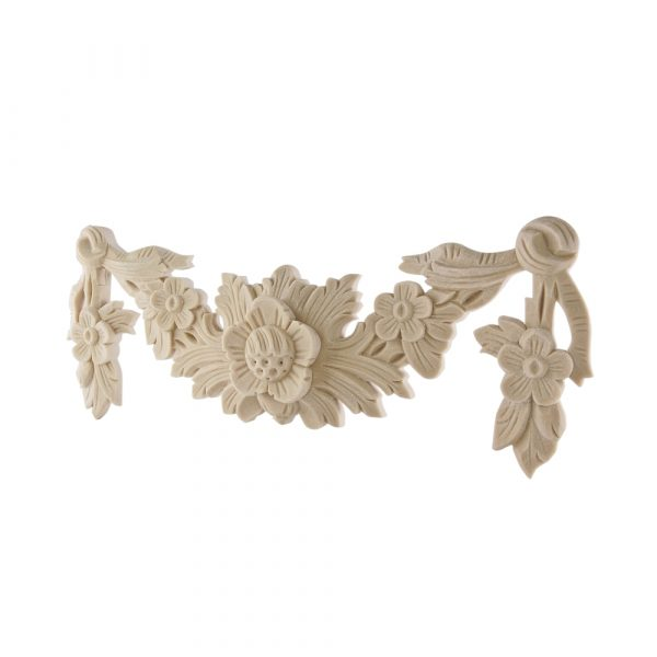 305/D Large Floral Swag DecWOOD Applique   Decora Mouldings