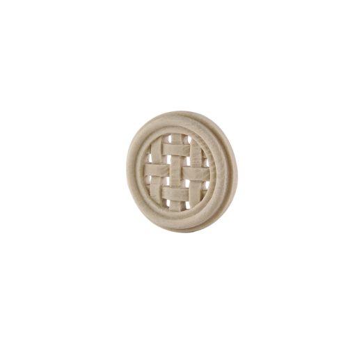 315/D Round Weave Patrae DecWOOD Rosette Applique | Decora Mouldings