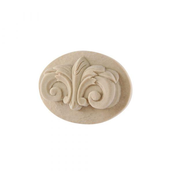 318/D Oval Ionic Patrae DecWOOD Applique Rosette   Decora Mouldings