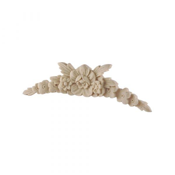326/D Floral Centre DecWOOD Carved Applique | Decora Mouldings