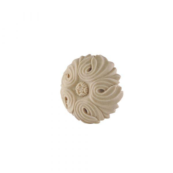 351/D Round Flower Patrae DecWOOD Applique | Decora Mouldings