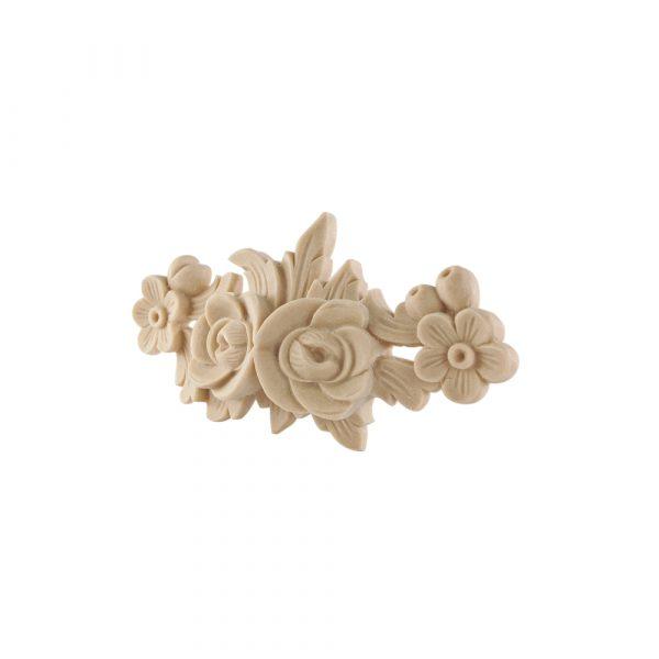 367/D Carved Rose Floral Centre DecWOOD Applique | Decora Mouldings