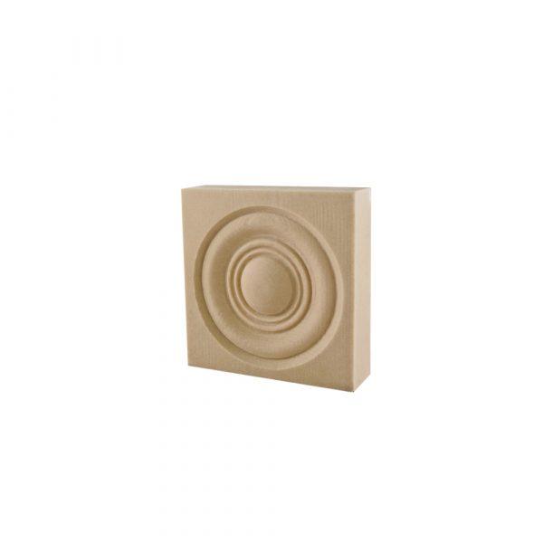 368/D Square Bullseye Patrae DecWOOD Applique   Decora Mouldings