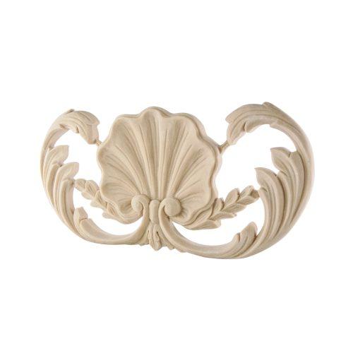 379/D Shell & Leaf Centre DecWOOD Applique | Decora Mouldings