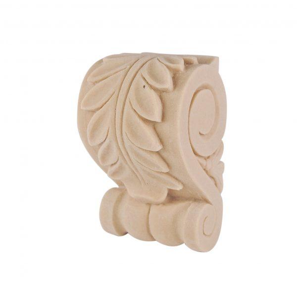 383/D Small Acanthus Leaf Corbel   DecWOOD Mouldings   Bespoke Carved Shelf Bracket   Decora Mouldings