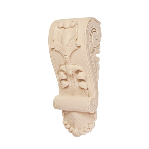 395/D Leaf & Scroll Corbel DecWOOD Shelf Bracket | Decora Mouldings