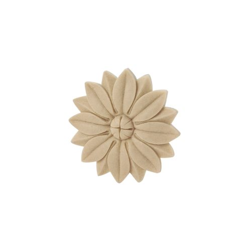 406/D Round Flower Patrae DecWOOD Rosette Applique | Decora Mouldings
