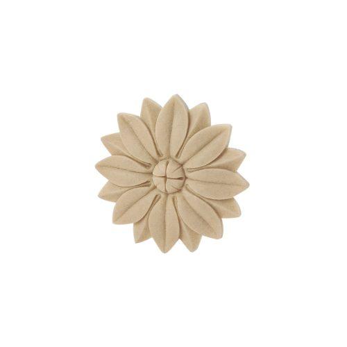 406/D Round Flower Patrae DecWOOD Rosette Applique | Decora Mouldings