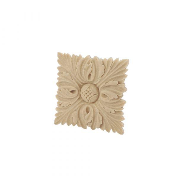 407/D Square Flower Patrae DecWOOD Rosette Applique | Decora Mouldings