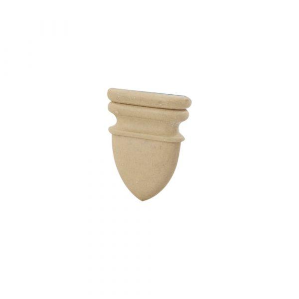 408/D Shield Patrae DecWOOD Carved Applique | Decora Mouldings