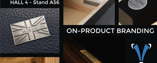 Blue Badger Branding Metal On-Product Branding Badges January Furniture Show 2018