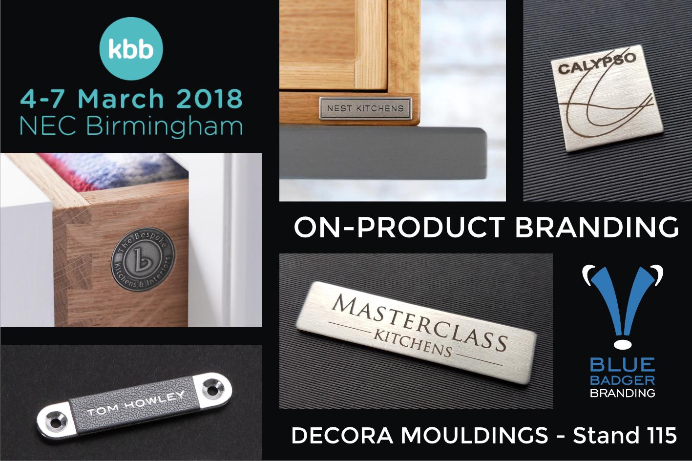 Blue Badger Branding On-Product Branding Metal Badges KBB