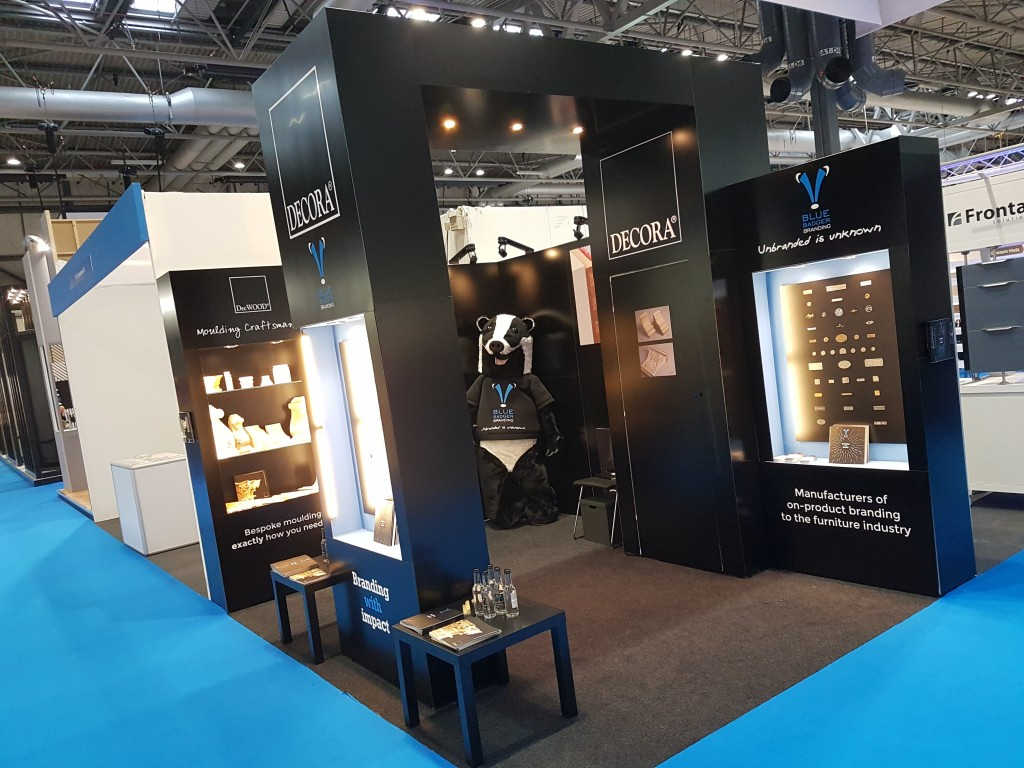 Blue Badger Branding at KBB 2018, with DecWOOD and On-Product Branding