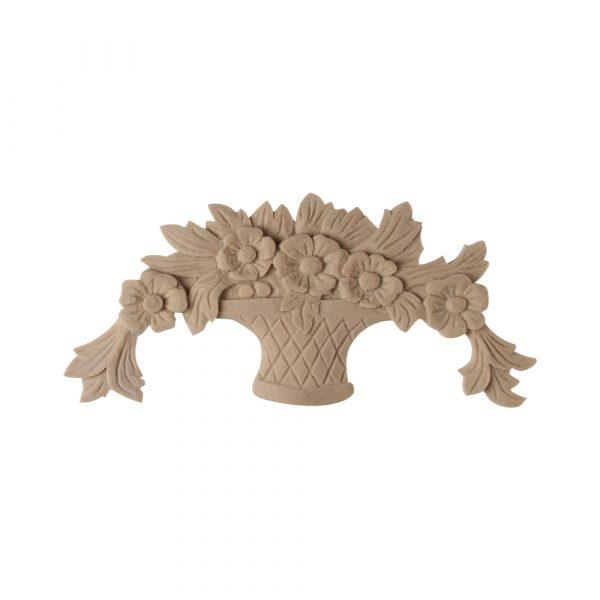 DecWOOD Wood Flower Basket Moulding Decora Mouldings