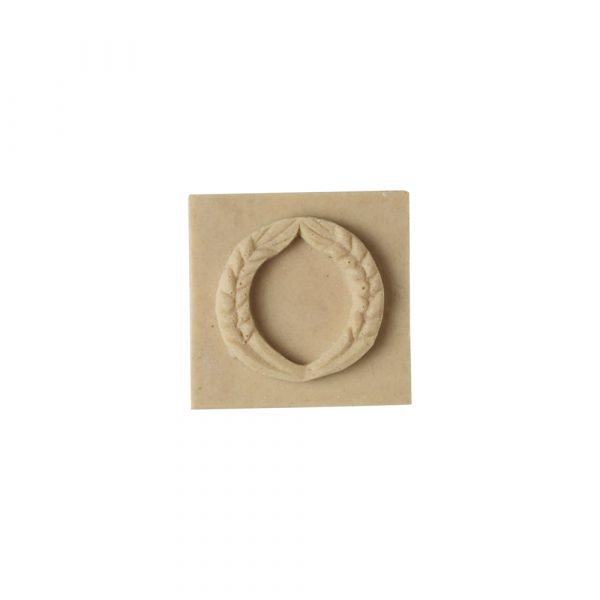 012/D Square Patera with Wheat Ear Detail - Decora Mouldings