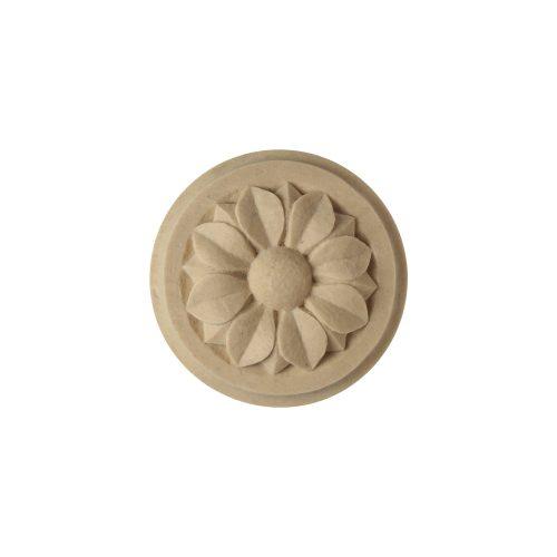 044/D Large Circular Flower on Plinth - Decora Mouldings