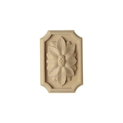072/D Rectangular Flower Onlay - Decora Mouldings