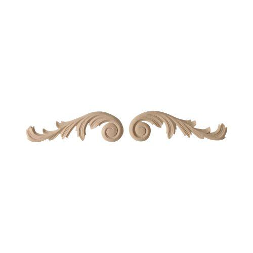 073/D Pair Carved Scrolls - Decora Mouldings