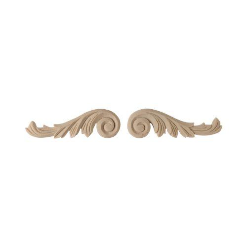 102/D Pair Carved Scrolls - Decora Mouldings