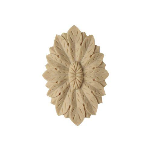 107/D Oval Flower Patera - Decora Mouldings