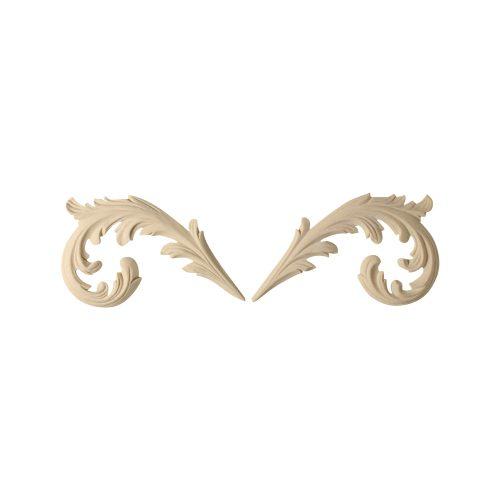 136/D Pair Scroll Leaves Freize - Decora Mouldings