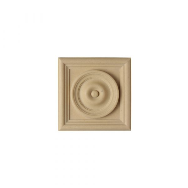 162/D Square Bullseye Patera - Decora Mouldings