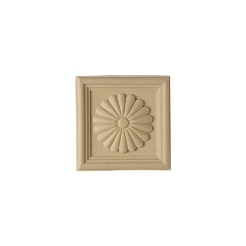 164/D Square Patera with Daisy - Decora Mouldings