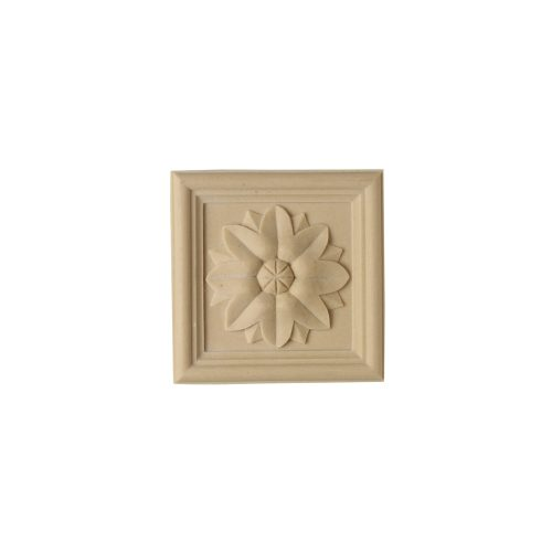 165/D Square Patera with Sunflower - Decora Mouldings