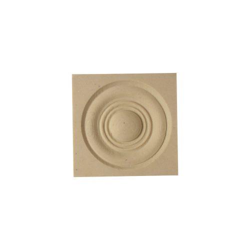 368/D Square Bullseye Patera - Decora Mouldings