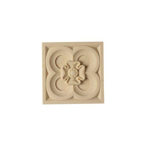 402/D Square Gothic Rose Patera - Decora Mouldings