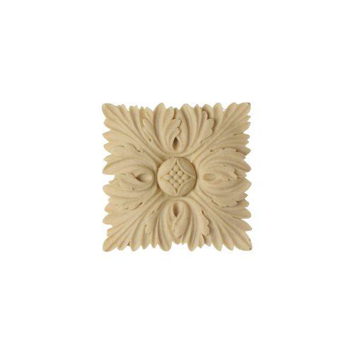 407/D Square Flower Patera - Decora Mouldings