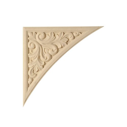 489/D Carved Corner Panel - Decora Mouldings