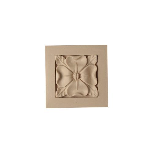 517/D Square Gothic Rose Patera - Decora Mouldings
