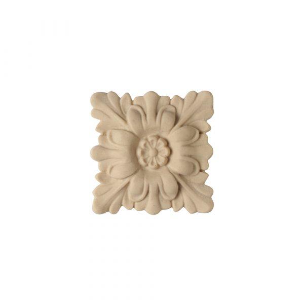 526/D Square Flower Patera - Decora Mouldings