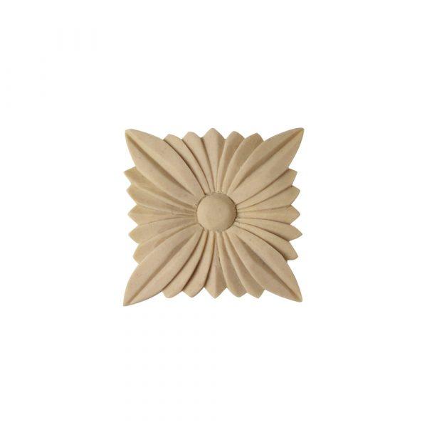 530/D Square Flower Patera - Decora Mouldings