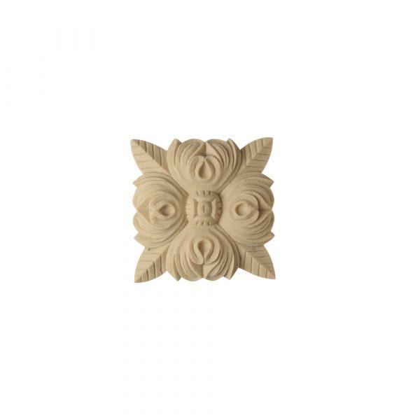 205/D Square Rose Patera - Decora Mouldings