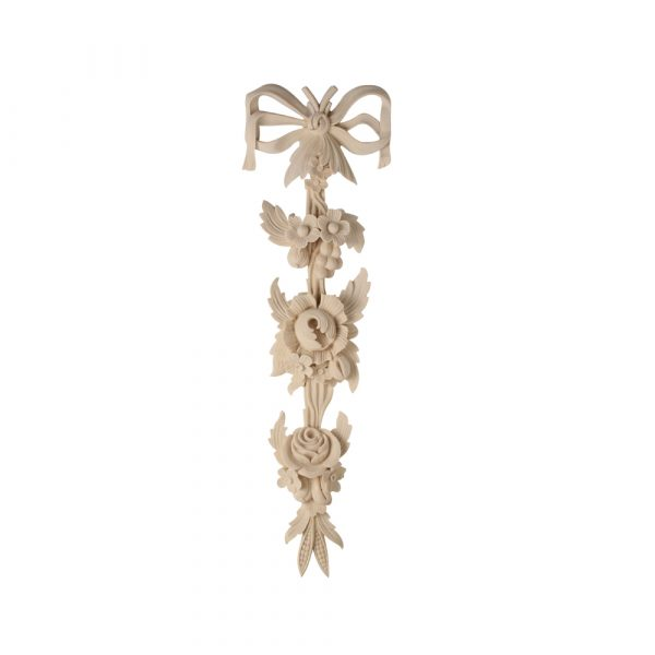 213/D Large Floral Drop with Bow - Decora Mouldings