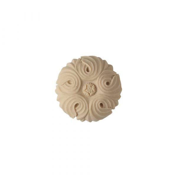 351/D Deep Round Flower Patera - Decora Mouldings